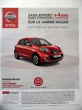 PUBLICITE-ADVERTISING :  NISSAN Micra  2015 Voiture