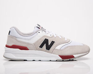 New Balance 997H Men's White Team Red Casual Shoes Lifestyle Lace Up Sneakers