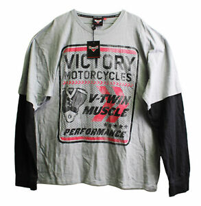 Genuine Victory Motorcycles V-Twin 2-In-1 Tee Size M 286630003