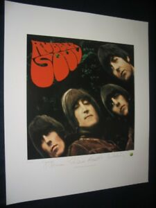 """THE BEATLES - """"RUBBER SOUL"""" PLATE/SIGNED LIMITED EDITION LITHOGRAPH"""