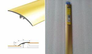Dural Multifloor Door Bar Threshold Strip Cover Gold-Silver Aluminum W50mm-L93cm