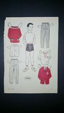 Wee Wisdom Magazine This is Tommy Paper Doll by Dorothy Wagstaff August 1971