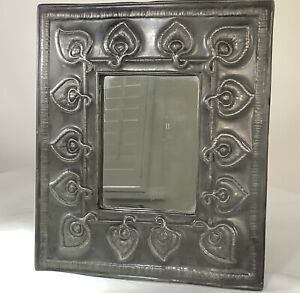 Early Liberty & Co Tudric Pewter Peacock Feather Mirror Archibald Knox