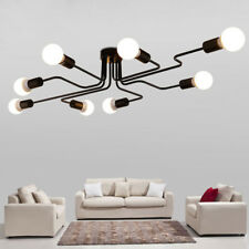 4/6/8 Way Retro Ceiling Light Modern Vintage Industrial Metal E27 Pendant Lamp 6-way