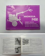 Manuale manual libretto use maintenance motozappa tiller HONDA F 450