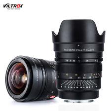 Viltrox 20mm f1.8 Wide Angle Prime MF Lens Full Frame for Sony E Mount Camera