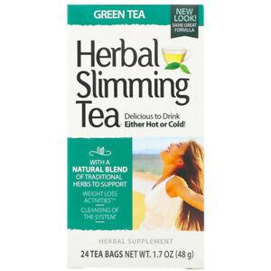 21st Century Herbal Slimming Tea - Caffeine Free - 24 Tea Bags, 1.6 oz each