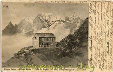 """Courmayeur, Aosta - Rifugio Alpino """"Torino"""" - Viaggiata 1900 - C222"""