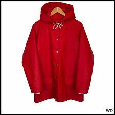 Vintage Unisex Rukka PVC Impermeable Rojo Chubasquero Abrigo De Goma 42 Grande 12 14