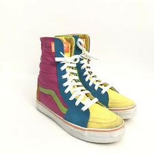 Vintage Vans Mens Size 6 Rainbow Multi Color High Top Sneakers Shoes Skaters