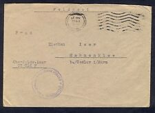 Germany(Ostland), 1944, Fieldpost cover from Riga with reengraved machine cancel
