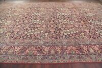 Pre-1900 PALACE ANTIQUE FLORAL KIRMAN RAVAR RUG VEGETABLE DYE ORIENTAL 12X19