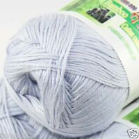 Sale New 1 Ball x50g Super Soft Bamboo Cotton Baby Hand Knitting Crochet Yarn 28