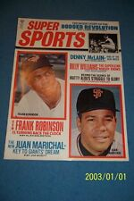 1969 Super Sports SAN FRANCISCO Giants Juan MARICHAL Baltimore Orioles ROBINSON