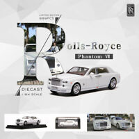 Pre Order 1:64 Scale Rolls-Royce Phantom VII White Car Model Collection Limited