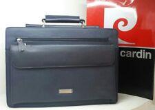 Borsa valigetta cartella 24 ore PIERRE CARDIN lavoro ufficio porta documenti blu