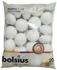 Bolsius 732521 Floating Candles White Bag - 20 Piece