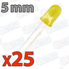 25x LED 5mm AMARILLO DIFUSO 20mA diodo diffuse diode yellow
