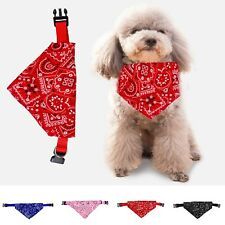 Adjustable Pet Dog collar Puppy Cat Neck Scarf Pet Grooming Dog Bandana Newly RH