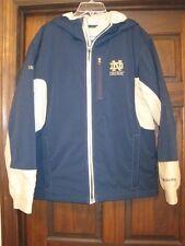 Columbia medium men's soft shell Notre Dame winter coat gold blue Irish