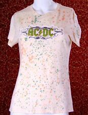 AC/DC ROCKWARE cream cotton T-Shirt Jr 11/13 L (TF-03G7G)