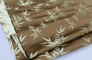 Faux Silk Brocade (Bamboo Pattern) Jacquard Damask Kimono Fabric Material *BA1