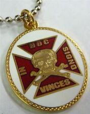 Templar Knights Crusaders Crusades Skull Crossbones Iron Cross Pendant Necklace
