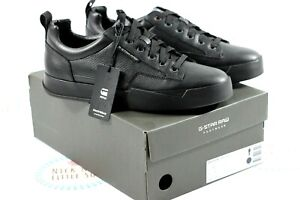 G STAR RACKAM CORE LOW ALL BLACK TRAINER SNEAKER SIZE UK 10 NEW IN BOX WITH TAGS