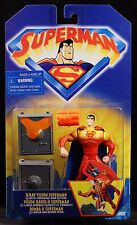 """1998 KENNER SUPERMAN ANIMATED SERIES X-RAY VISION SUPERMAN 5"""" ACTION FIGURE MOC"""