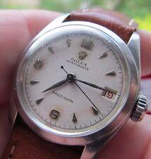 Vintage gents steel Rolex Oysterdate  Precision seventeen jewel wrist watch