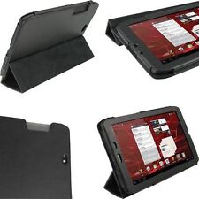 "Motorola Xoom 2 Android Tablet 10.1"" PU Leather Case & Stand Black"
