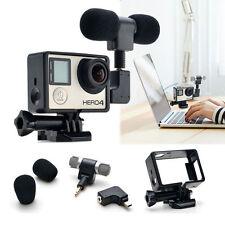 External Adapter Microphone Mic + Case + Standard Frame Kit for GoPro Hero 43+ 3