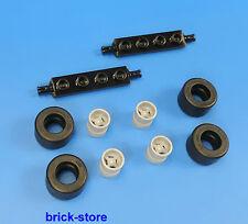 LEGO City véhicule utilitaire/AUTO 2 x axes 4 x Pneu 4 X JANTES gris clair
