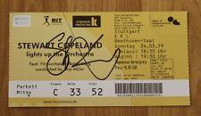 ORIGINAL Autogramm auf einem Ticket von Stewart Copeland: 100 % ECHT. THE POLICE