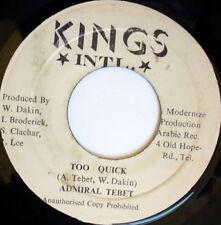 ADMIRAL TEBET: Too Quick / Officer 45 Hear! (Jamaica) Reggae