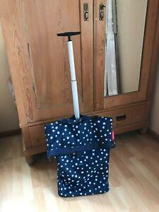 reisenthel trolley Einkaufswagen Einkaufstrolley, Blau m. weißen Punkten