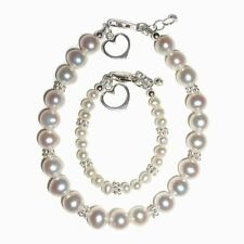 Mom & Me Bracelet Set Pearls with a Heart -Valentine's Day (1-5 Years)