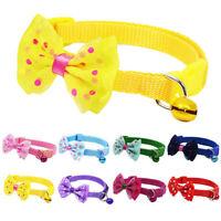 Pet Dog Cat Bowknot Necktie With Bell Collar Adjustable Puppy Kitten Bow Tie z