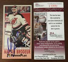 MARTIN BRODEUR 1993 FLEER POWER PLAY AUTOGRAPHED SIGNED AUTO NHL CARD JSA Devils