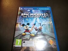 EPIC MICKEY 2 THE POWER OF TWO  SONY PS VITA NEW AND SEALED