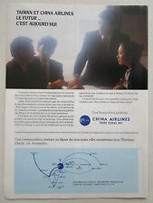 10/1990 PUB CHINA AIRLINES TAIWAN CAL BOEING AIRBUS ASIA ORIGINAL FRENCH AD