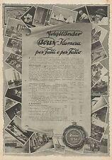 W0420 Apparecchi Fotografici VOIGTLANDER - Pubblicità 1927 - Advertising