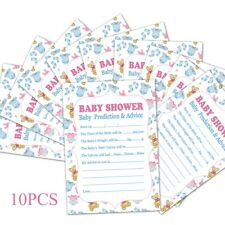 10Pcs Baby Shower Advice Cards Game Prediction Party Activity Supplies Boy Girl