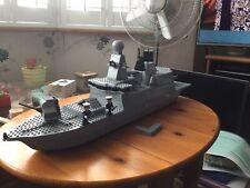 """VINTAGE LEGO ROYAL NAVY WARSHIP..26"""" LONG ..NAVY SHIP...VERY RARE BOAT..NOT 100%"""