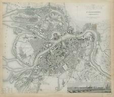 ST PETERSBURG ?????-????????? Antique city town map plan Panorama SDUK 1844