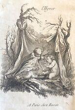 Putti L' hivers par Charles Eisen  (1720-1778)  XVIII c 1760 Feu flammes