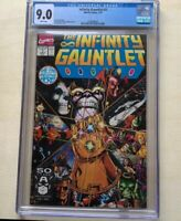 Infinity War 1-6 lot Infinity Gauntlet 1 CGC 9 Thanos vs Avengers Great Shape!