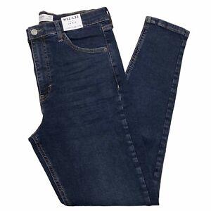 BNWT Topshop Blue Black Jamie Jeans - W32 L32 - UK 14