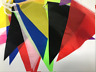 32 FEET LONG MATERIAL POLYESTER PENNANT BANNER FLAG MULTICOLOUR BUNTING PARTY