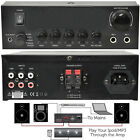 110W Mini Stereo Amplifier System–Home/Office Loud Speaker Karaoke Hi-Fi RCA AUX